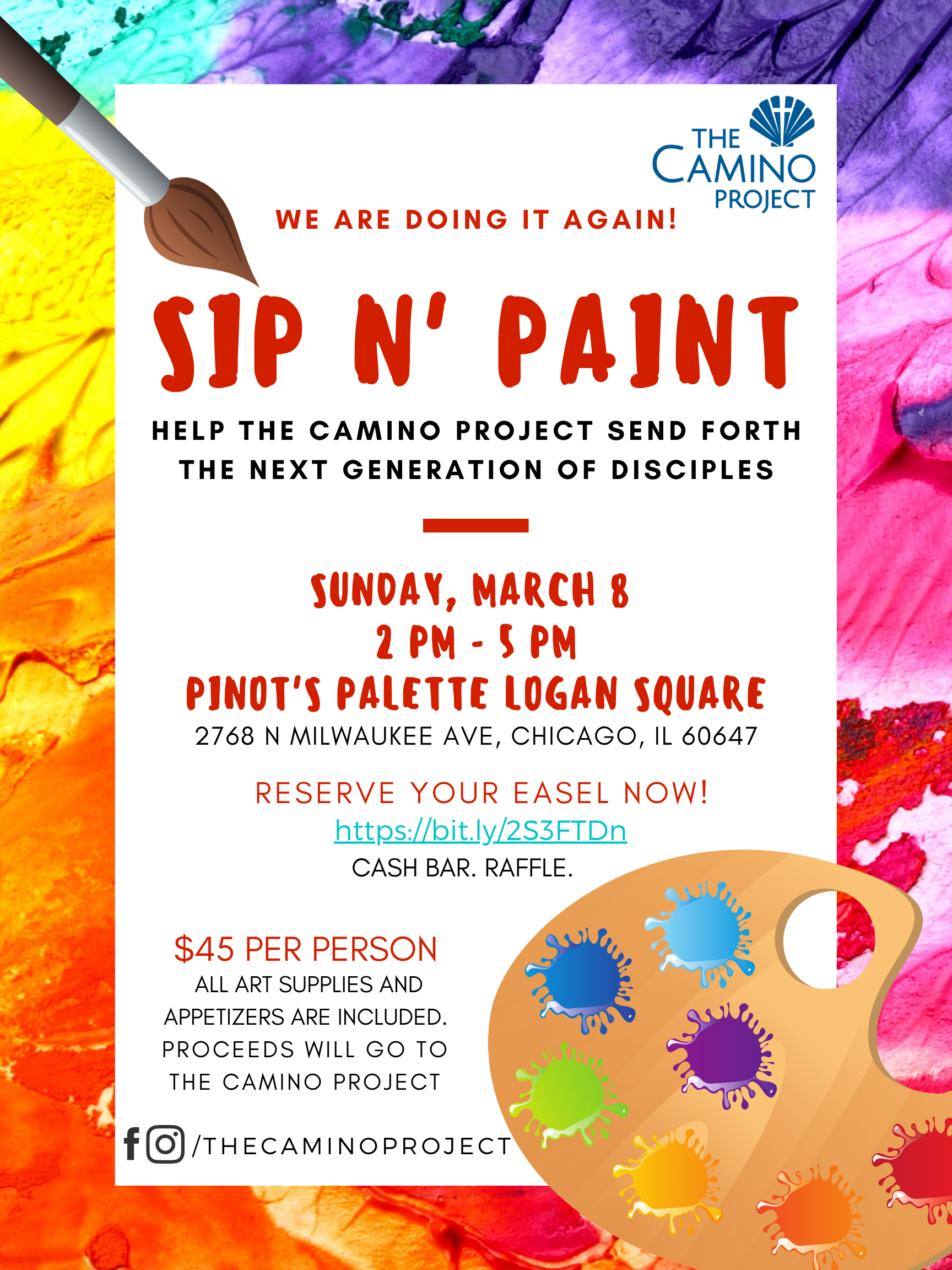 Sunday, March 8th, 2020 — Sip 'n Paint